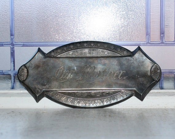 Antique 1800s Coffin Plaque Plate Our Mother Victorian Mourning