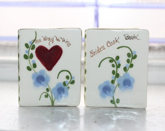 Vintage Salt and Pepper Shakers Bride's Cook Book