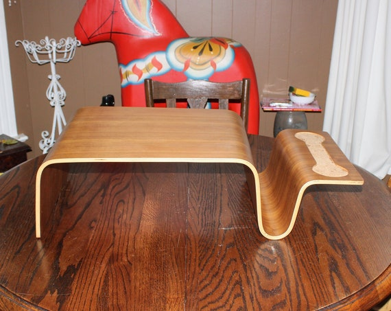 Mid Century Modern Bentwood Bed Tray Table Vintage 1950s