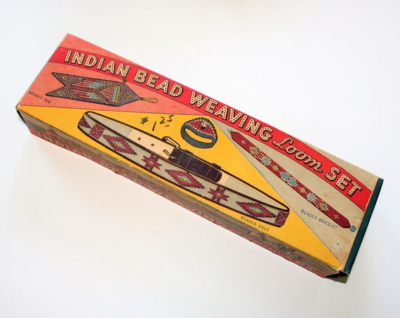 Indian Bead Weaving Outfit Vintage 1930s Toy