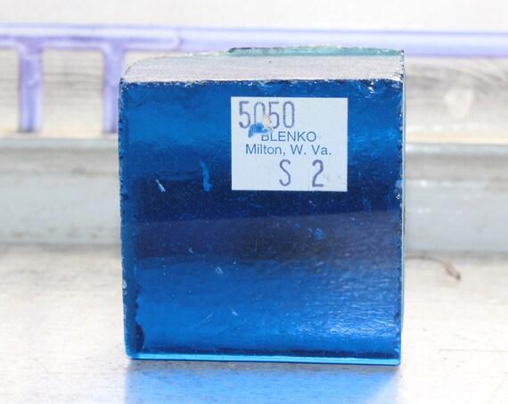 Vintage Blenko Glass Color Sample Block Paperweight Art Supply 5050 S2