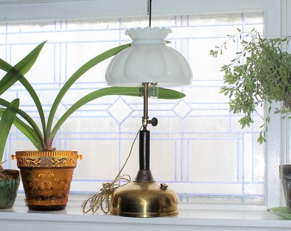 Antique Gas Lamp Early 1900s Electrified Farmhouse Decor