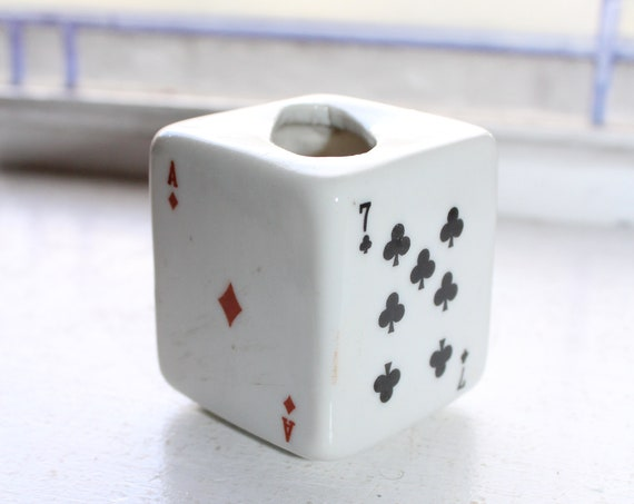 Vintage Playing Cards Toothpick or Match Holder 1920s