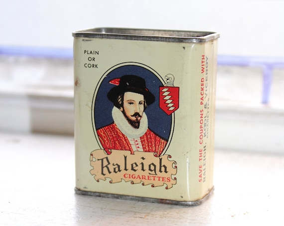 Vintage Kool and Raleigh Cigarettes Tobacco Tin Bank