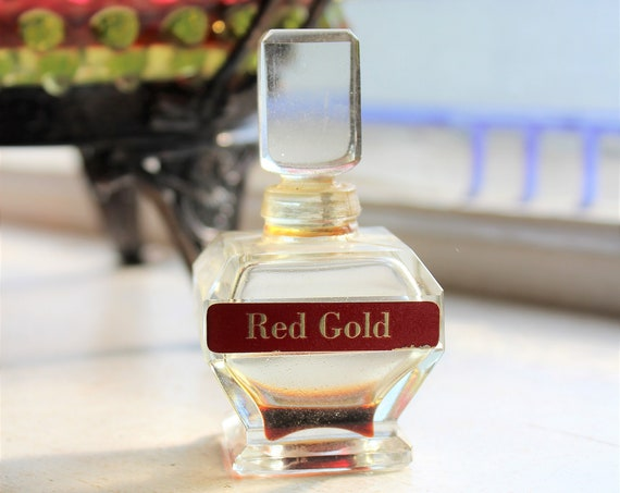 Red Gold Perfume Bottle Vintage Beauty Counselors Inc.