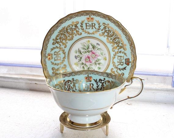 Paragon Tea Cup and Saucer Queen Elizabeth Coronation 1950s