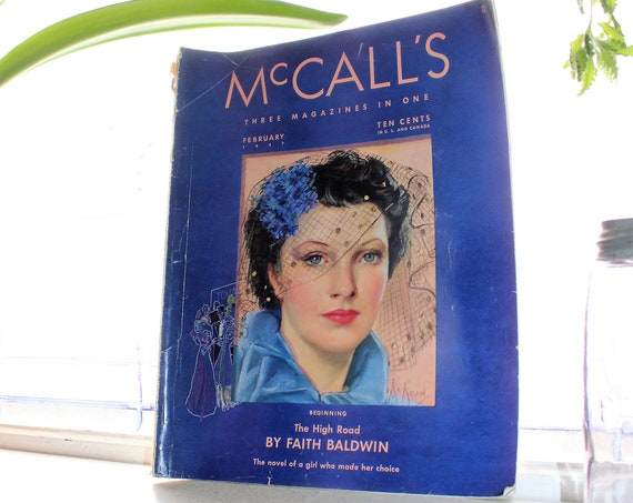 1937 McCall's Magazine February Issue Vintage Fashion and Advertising