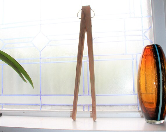 Antique Laundry Tongs Laundry Room Decor Wooden Clothes Tongs
