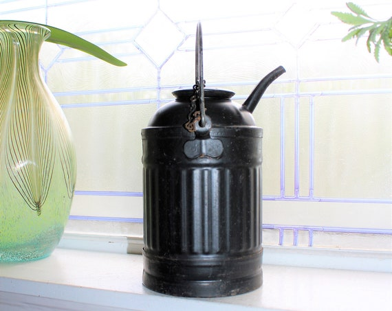 Antique Kerosene Can with Bale Handle Primitive Rustic Farmhouse Decor