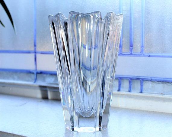Orrefors Crystal Corona Vase Vintage Glass