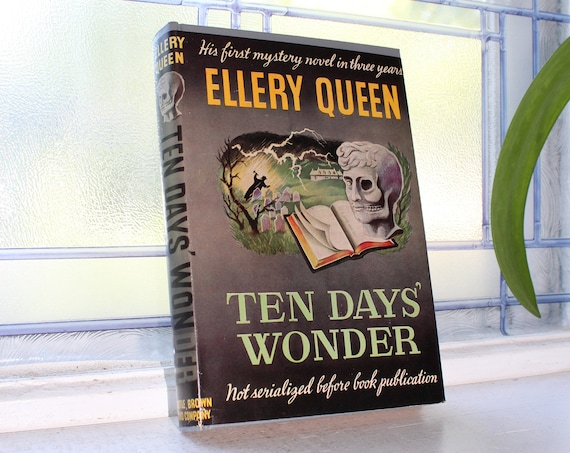 Ellery Queen Ten Days' Wonder Vintage 1949 Book