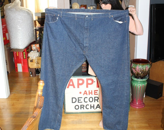 Vintage Levis Jeans Huge Store Display 76 x 45 Inches 1970s
