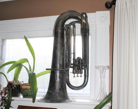 Vintage Euphonium Baritone Large Musical Instrument