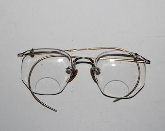 132297fbe756 Antique Eyeglasses 12k Gold Filled Frames Shuron