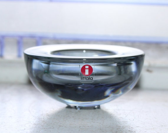 Iittalia Ballo Smoke Gray Votive Candle Holder Finnish Modern Design
