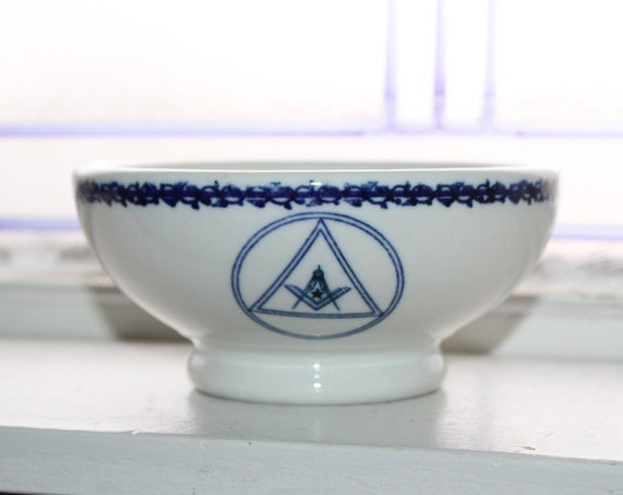 Antique Masonic Lodge Bowl Fraternal Order Dinnerware K T & K