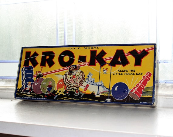 Antique Toy Kro-Kay Game Croquet Vintage 1920s