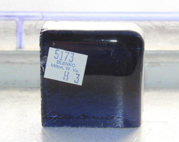 Vintage Blenko Glass Color Sample Block Paperweight Art Supply 5173 H3