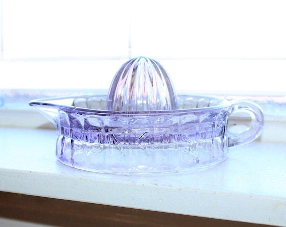 Vintage Juicer Reamer Sunkist Purple Glass