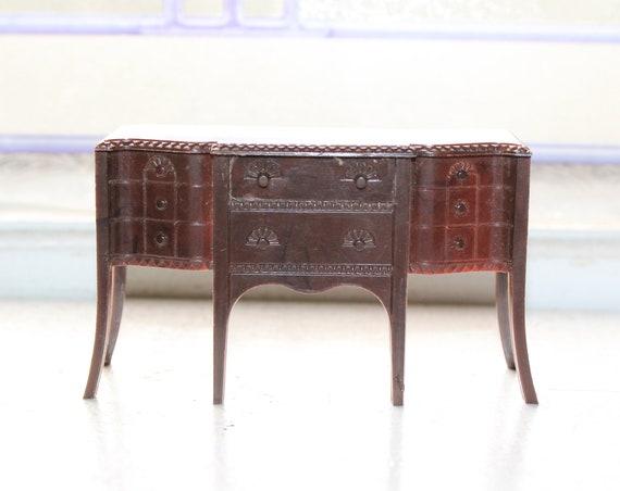 Vintage Dollhouse Furniture Renwal Buffet Sideboard