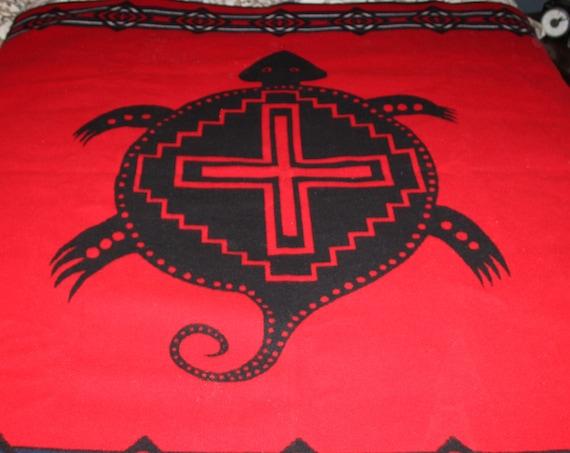 Vintage Pendleton Beaver State Wool Camp Blanket Red and Black