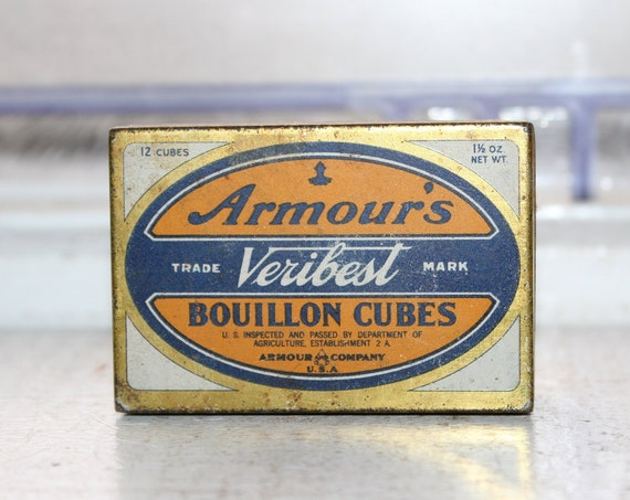 Vintage Kitchen Spice Tin Armour's Veribest Bouillon Cubes