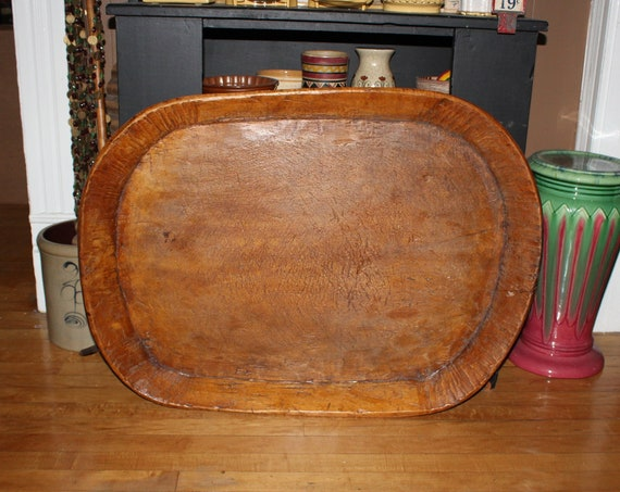 Large Wood Bowl 34 Inch Primitive Antique From Rural Montana