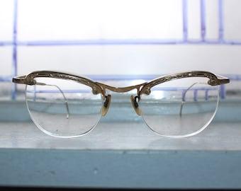Women's Eyeglasses C.O.C. 12K Gold Frames Vintage 1940s-50s
