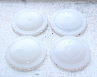 4 Milk Glass Jar Lid Inserts Boyd Mason Jar by Hazel Atlas