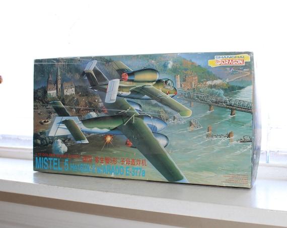Vintage Model Airplane Shanghai Dragon Mistel 5 He162A-2 with Arado I-377a
