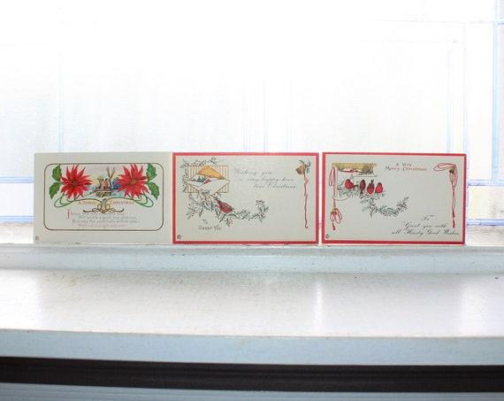 3 Antique Unused Christmas Postcards Circa  1910s