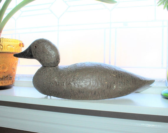 Antique Duck Decoy Carved Wood Rustic Farmhouse Decor