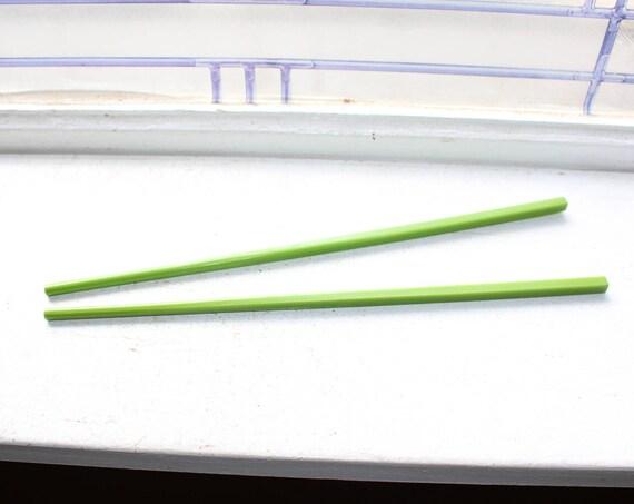 1 Pair Bakelite Chopsticks Apple Green Vintage 1920s 2 Pair Available