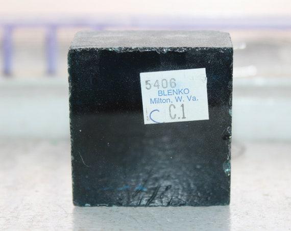 Vintage Blenko Glass Color Sample Block Paperweight Art Supply 5406 CC1