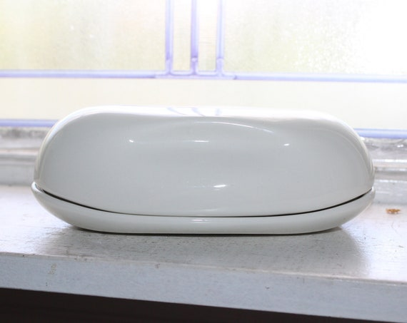 Russell Wright Iroquois Casual China White Butter Dish 1950s
