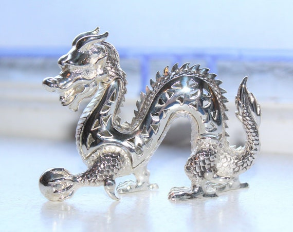 Christofle Silver Plated Dragon Sculpture Figurine