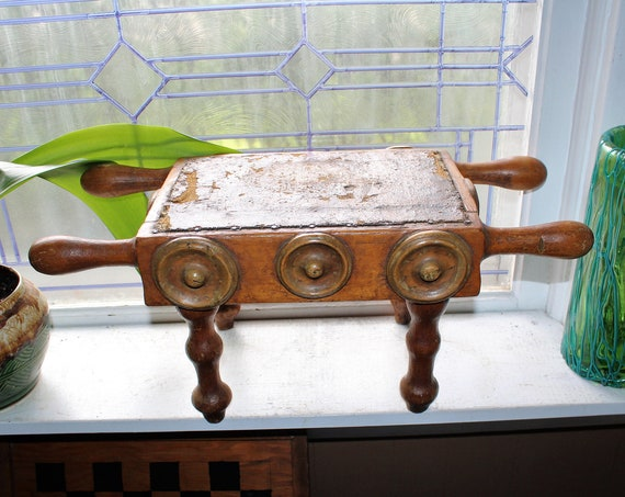 Antique Victorian Milking Stool Primitive Wood Rustic Farmhouse Decor