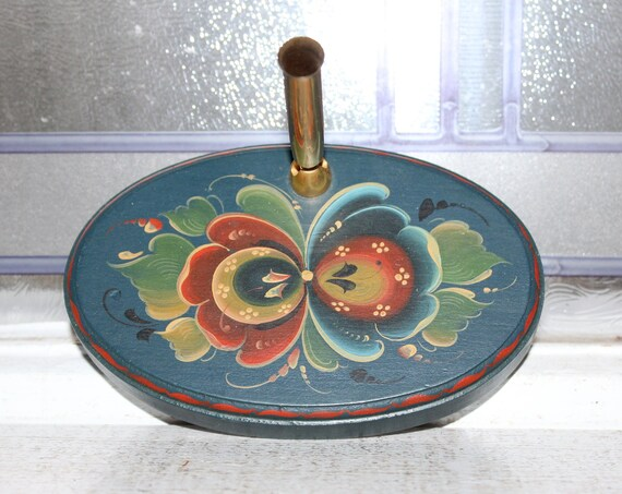 Vintage Rosemaling Pen Holder Norwegian Folk Art by Nancy Morgan