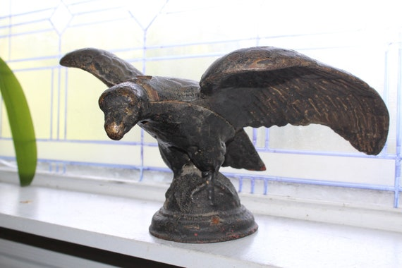 Large 19th Century Cast Iron Eagle Antique Architecural Salvage 1800s