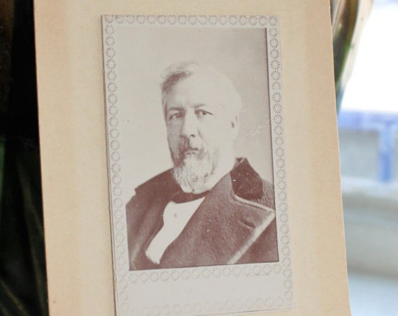 Antique Photograph Cabinet Card 1800s Victorian Man with Beard