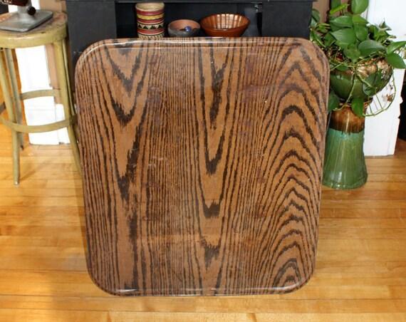 Antique Stove Mat Pad Floor Protector Wood Grain Metal