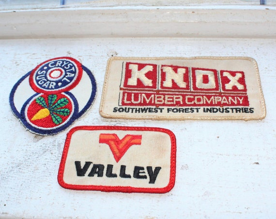 3 Cloth Patches Valley KNOX Lumber and Crystal Sugar