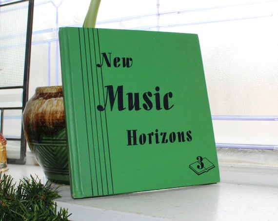 New Music Horizons Music Book Vintage 1944 Schoolbook