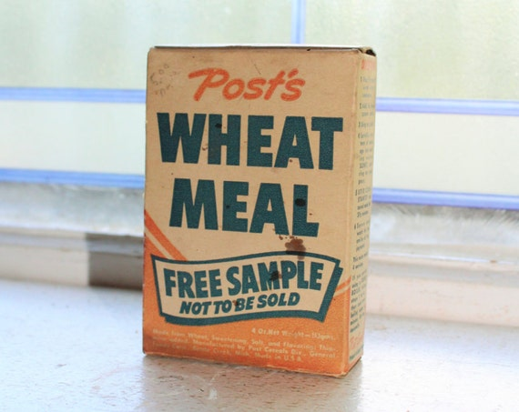 Vintage 1950s Post's Wheat Meal Sample Box Unopened Country Store Display