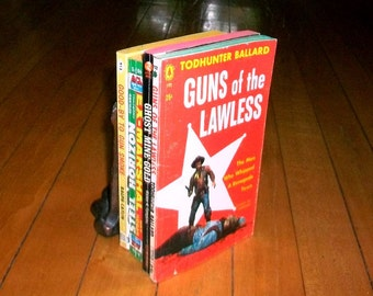 4 Vintage Western Paperbacks Collection of 1950s Books