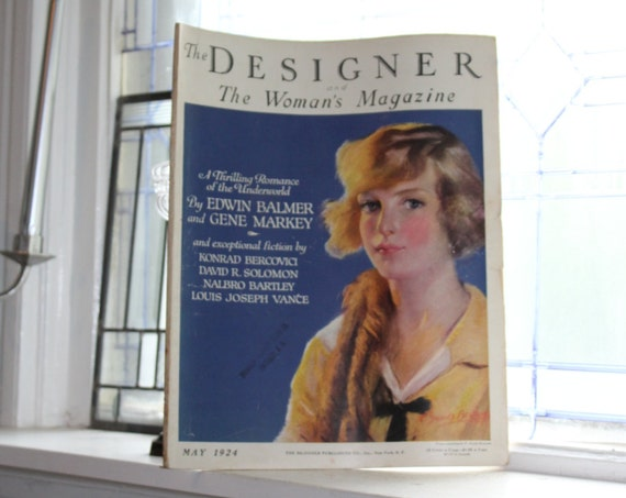 1924 Magazine The Designer Vintage Art Deco Fashion May Issue