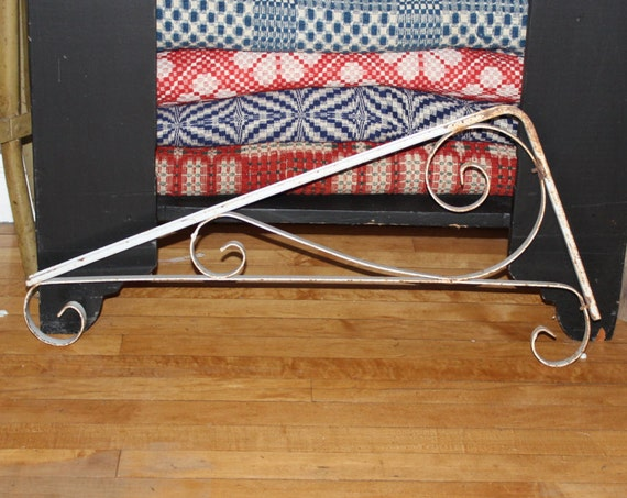 Huge Vintage Shelf Brackets Pair Plant Hangers Rustic Cottage Chic