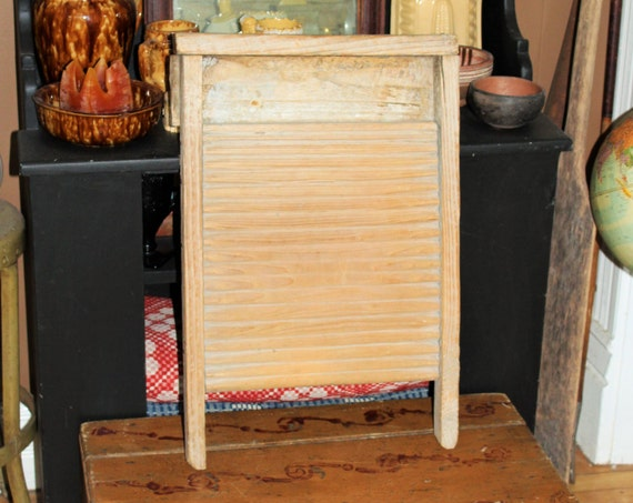 Primitive All Wood Washboard Antique Farmhouse Decor Laundry Room