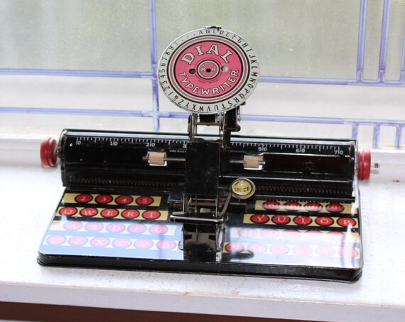 Marx Dial Typewriter Vintage 1930s Tin Litho Toy