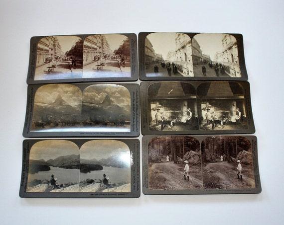 6 Antique Stereoviews Ireland Italy Switzerland Finland Russia